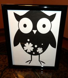 Items similar to Owl Print Art on Etsy White Owls, Black And White Owl, Owl Pics, Owl Pictures, Art Projects, Projects To Try, Owl Art, Kappa, Angel