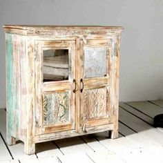 Whiteleaf Upcycled 2 Door (half glass) Sideboard