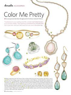 Orlando Wedding Magazine Spring/Summer 2014; bridal jewelry and accessories; Art Direction and magazine layout by Christine Dupont (Cerniglia), via Behance