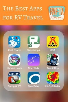 There are tons of RV travel apps out there and it can be tricky to find the ones that actually make the journey more enjoyable. Here is a list of RV travel apps that folks in the RVFTA community use and recommend. Rv Camping Tips, Travel Trailer Camping, Camping For Beginners, Camping Essentials, Rv Travel, Family Camping, Outdoor Camping, Camping Ideas, Family Travel