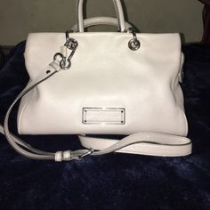 Marc by Marc Jacobs Satchel Light Gray Satchel bag, can also be used as a crossbody. Beautiful lightly used bag. No rip or stains. Thanks for . Have a beautiful day.  NO TRADES  Marc by Marc Jacobs Bags Satchels