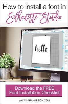 Have you ever bought a font online and tried to use it in Silhouette Studio but it didn't show up there? You're not alone! I see questions like this all the time... Silhouette Cameo Tutorials, Silhouette School, Silhouette Cameo Machine, Silhouette Projects, Silhouette Studio, Vinyl Crafts, Vinyl Projects, Silouette Cameo Projects, Vinyl Printer