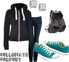 """Collegiate Comfort - Fall"" by annabellec13 on Polyvore"