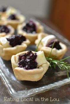 Blueberry Brie Tartlets ~ easy bite sized party food that can be prepped ahead!