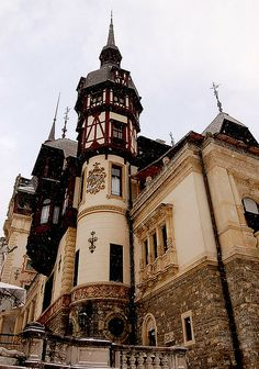 "Castelul Peleş, Sinaia, Romania - ""Peleş Castle Reaching to the Sky"" by Curious Expeditions Beautiful Castles, Beautiful Buildings, Beautiful Places, Chateau Moyen Age, Places To See, Oh The Places You'll Go, Famous Castles, Wonders Of The World, Places To Travel"