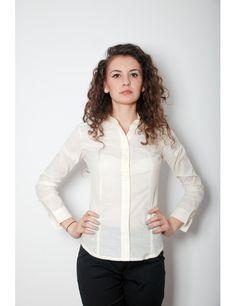 Zega Store - Camasa Depot 96 , culoarea crem - Femei, Camasi Simple Shirts, Women's Shirts, Stylish, T Shirt, Fashion Trends, Tops, Supreme T Shirt, Tee, Shell Tops