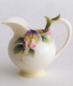 Franz Porcelain Sweet Pea Pitcher