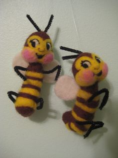 Needle Felted Bumblebee by Melanie Nord-Monsees of MelaniesMenagerie on Etsy