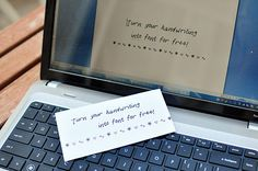 The Cheese Thief: How to Turn Your Handwriting Into a Font for Free
