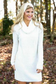 BB DAKOTA: Need My Love Sweater Dress-Ivory