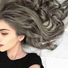 girl, hair, and grey hair image