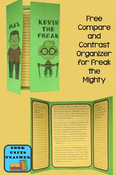 Free Graphic Organizer to use with Freak the Mighty 6th Grade Ela, 5th Grade Reading, Eighth Grade, Fourth Grade, Third Grade, Teaching Writing, Student Teaching, Teaching Ideas, Teaching Resources