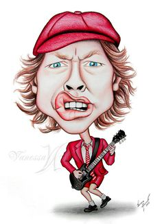 Color pencil on Paper. 30x40 cm. Angus McKinnon Young (born 31 March 1955 in Scotland) is the guitarist, co-founder, and songwriter of the Australian Rock And Roll band, AC/DC. My Facebook Page: