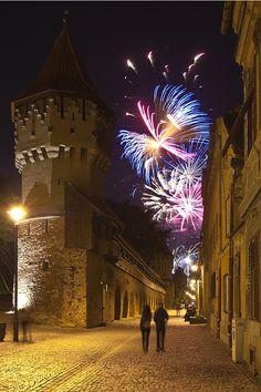 Happy New Year, Sibiu, Romania,