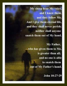 John 10:27ff