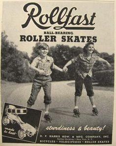 1948 Rollfast Roller Skates Ad