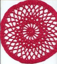 My First Doily by Victoria Gable With only 8 Rds, and a fairly large hook for the thread you are working with, This can easily and quickly done by a beginner.