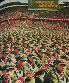"Chinese Cultural Revolution 1966:  Inspired by Mao, student radicals wanted to launch a revolution that would ""negate the past 17 years"" and ""smash"" the authority of old communists on the mainland. Radical Red Guards wanted to transform the People's Republic of China into the ""People's Commune of China."" Revolutionary upheaval would become a ""permanent"" way of life, and society would function without any institutionalized leadership."