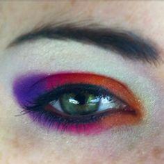 #Ecotools #ShanyCosmetics #jessegirlcosmetics #Maybelline #NYX #eyeliner #eyelashes #eyemakeup #eyeshadow #eyeballoftheday #iamshortandgeeky #matte #shimmer #Ilovecolors #purple #orange #hotpink #tooglamtogiveadamn #makeup #makeuplover #makeupjunkie