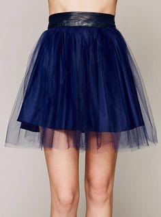 Blue skirt - free people