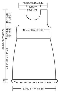 Yasmin - T�nica en ganchillo DROPS con patr�n de calados, volante en la parte de abajo y mariposa para decoraci�n, en �Cotton Viscose�. Talla: S � XXXL. - Free pattern by DROPS Design