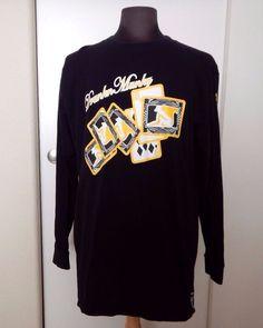 DRUNKN MUNKY Long Sleeve Men's Pullover Black Top Shirt T-Shirt Size L #Drunknmunky #Pullover