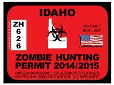 Idaho Zombie Hunting Permit