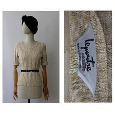 Lepoutre Paris 1970 Sweater beige linen Medium/ 1970 Paris