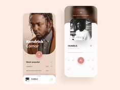 Music Player App Concept by melania on Dribbble Web Design, App Ui Design, User Interface Design, Design Layouts, Flat Design, Graphic Design, Music Website Templates, Hip Hop Images, Music App