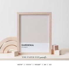 Gardenia Color Art Print Printable Pantone Wall Art Soft   Etsy Blush Color, Pink Color, Pantone, Emma Book, Harry Potter Wall Art, Printable Art, Printables, Champagne, Palette