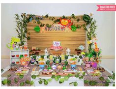 Amazing dessert table at a jungle birthday party! See more party planning ideas at CatchMyParty.com!