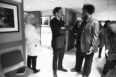 Jimmy and Questlove backstage