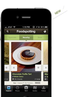 App shows you pictures people took at nearby restaurants. Helps you find hidden treasures on the menu.