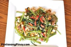Kangkong and Tofu Stir Fry is a quick and easy water spinach recipe. This is one budget friendly recipe with nutrients from the vegetables and protein from the tofu.