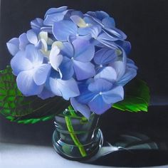 """Hydrangea 6x6"" - Original Fine Art for Sale - © M Collier"