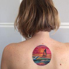 #sunsettattoo #seatattoo #sails ⛵️ #watercolortattoo #sashaunisex #vbiproteam