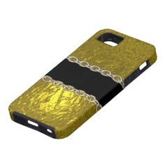 Gold Foil Chain  iphone 5 cover by Valxart.com See more abstract & surreal iphone covers & decals at http://pinterest.com/valxart/apple-iphone-5-cases-covers-by-valxart/