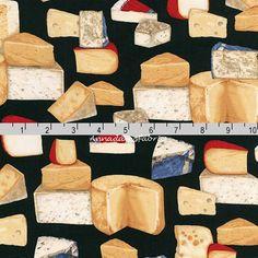 Cheese Food Festival Dairy Kitchen Elizabeth Studio Quilting Cotton Fabric