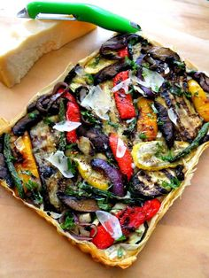 Grilled Vegetable Tart with Phyllo - Proud Italian Cook