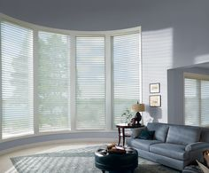 Welcome natural light into your home with Silhouette® window shadings ♦ Hunter Douglas window treatments #LivingRoom