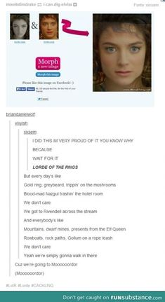 Lorde of the Rings =) I'm not even in the fandom but this is hilarious xD