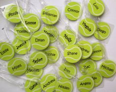 Tennis Bag Tags Quantities of 8+ Tennis Team Gifts Tennis Party Favors Tennis Racket Bag Tags Tennis Coach Gifts Tennis Baby Shower Favors