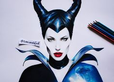 Drawing Maleficent by Toni Mahfud // This is really talented german artist, watch the video till the end, it is really worth it <3
