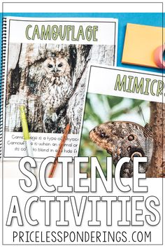 Your class will learn about animal adaptations with these fun hands on activities perfect for your life science class. Click the picture to learn more! Fourth Grade Science, Elementary Science, Science Notebooks, Interactive Notebooks, Hands On Activities, Science Activities, Animal Adaptations, Early Finishers, Reading Passages