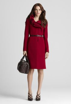 VICTORIA COAT  $698.00  A favorite Elie Tahari style, this doubleface wool coat adorned with layers of ruffles take this winter warmer from basic to couture.