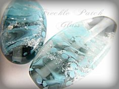 Large Cremation  Focal  Lampwork Glass Bead  by FrecklePatchGlass, $75.00