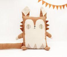 Cabane handmade stuffed animals with upcycled fabrics on Etsy - SmallforBig.com #stuffedanimals #toys #etsy #handmade