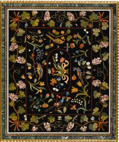 An Italian pietre dure inlaid table top, Florentine, first half 17th c.