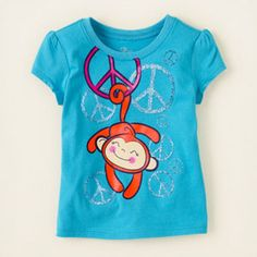 peace monkey graphic tee