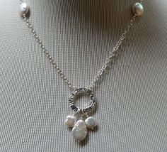 MacDesigns  PMC Circle and White Teardrop by macdesignsgallery, $143.00